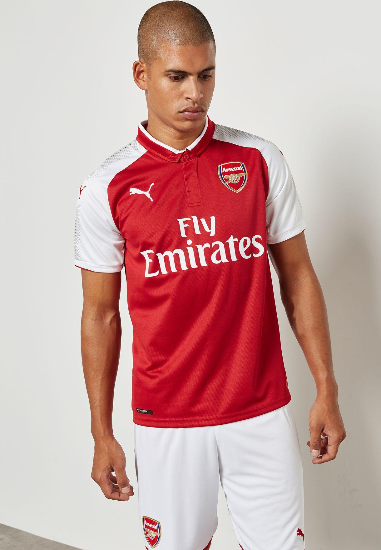 Shop PUMA multicolor Arsenal 17 18 Home Jersey 75150902 for Men in Bahrain  - PU020AT98FXH e1cd09769