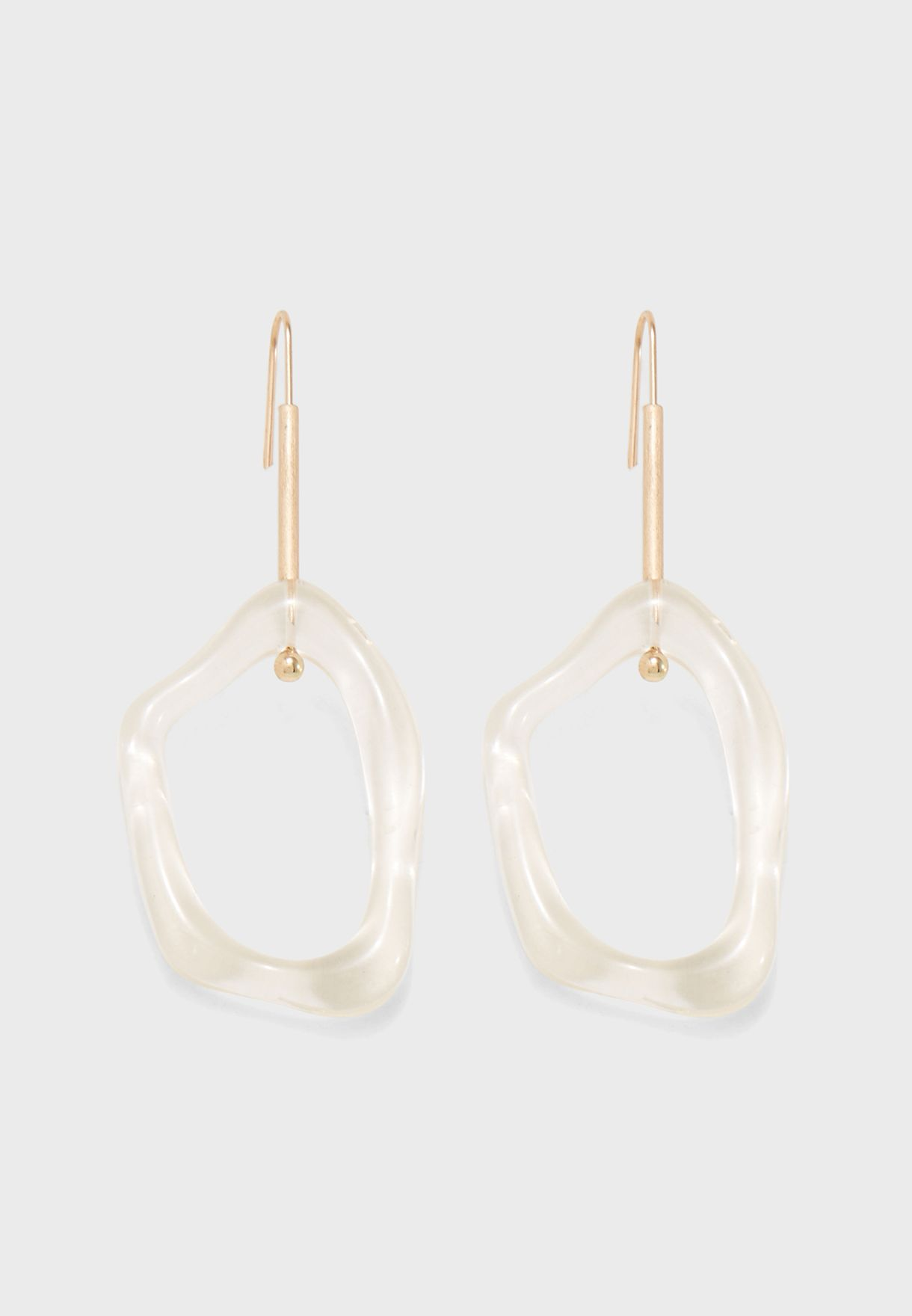 Eco Transparent Drop Earrings