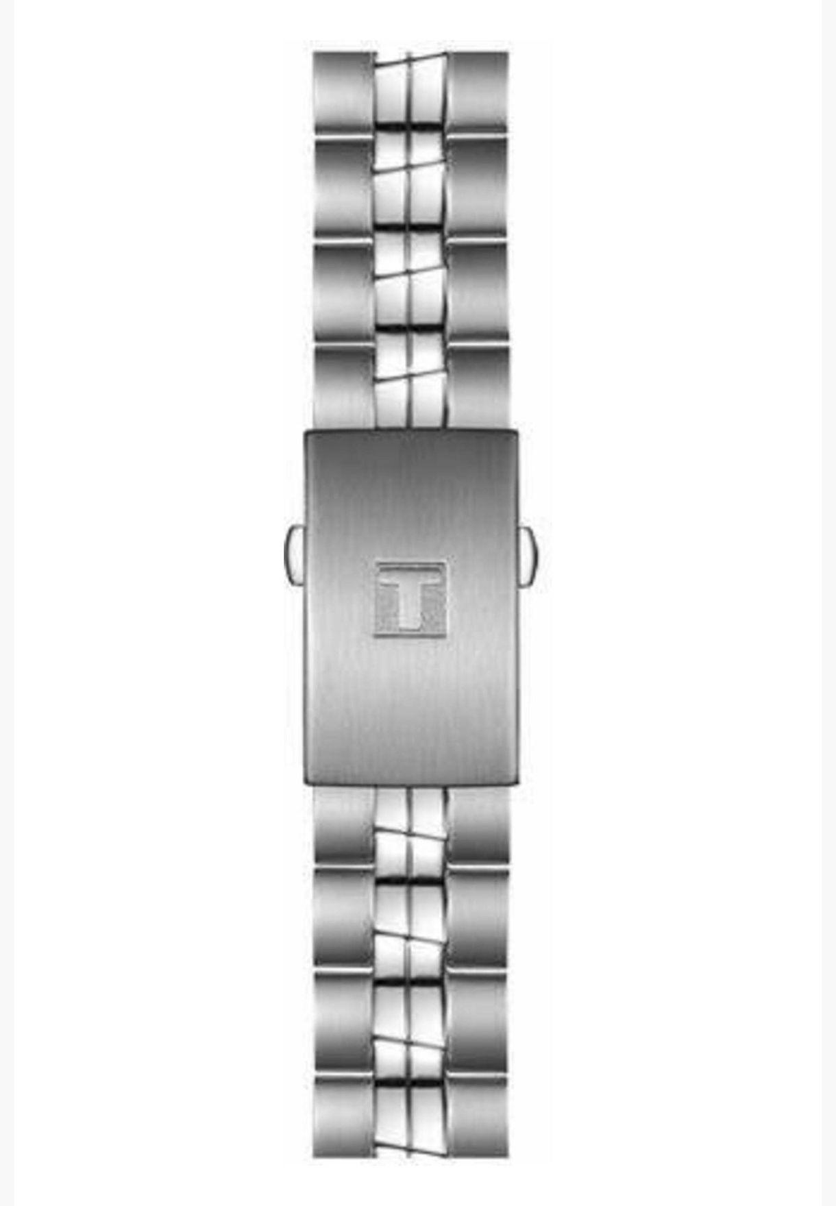 ساعة تيسو PR 100 أوتو كلاسيك بسوار فولاذي - T101.407.11.011.00