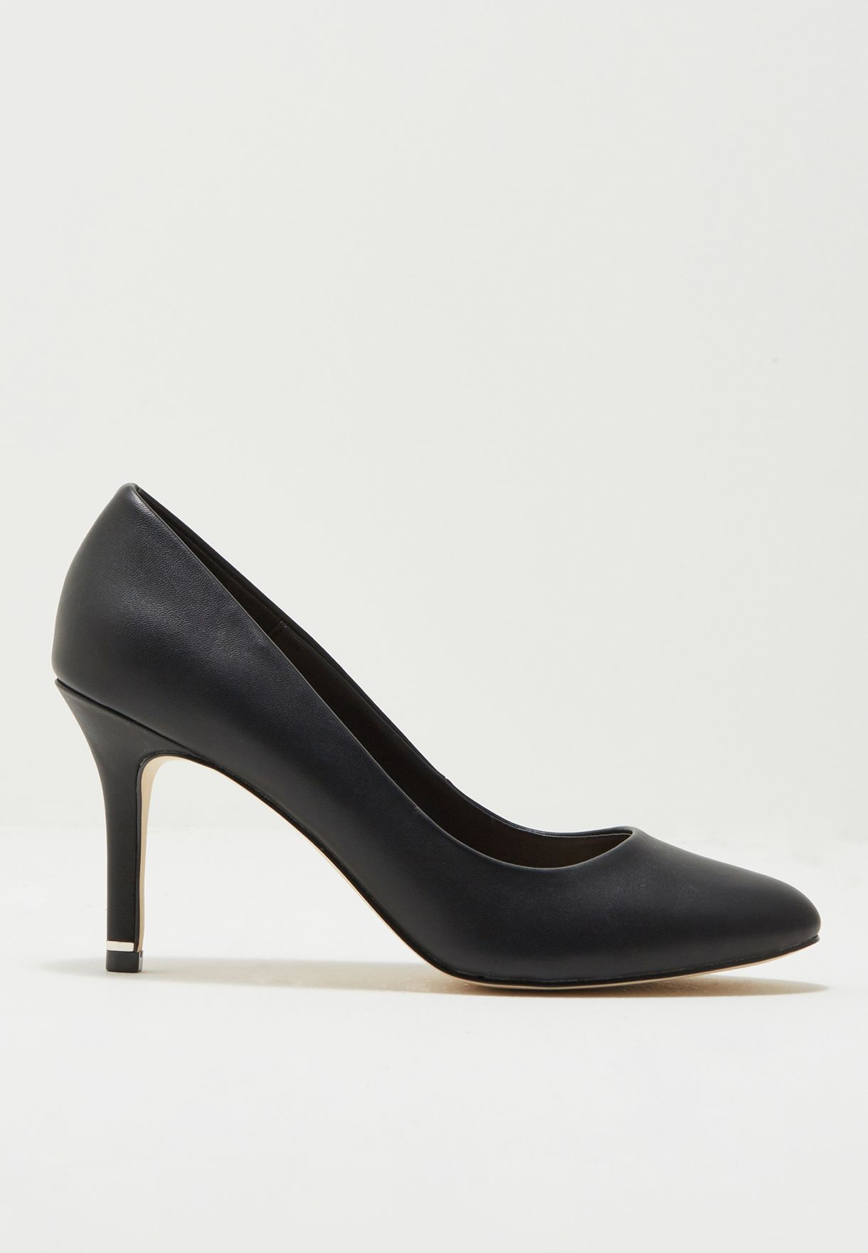 Ladies Mid Heel Round Toe Pump