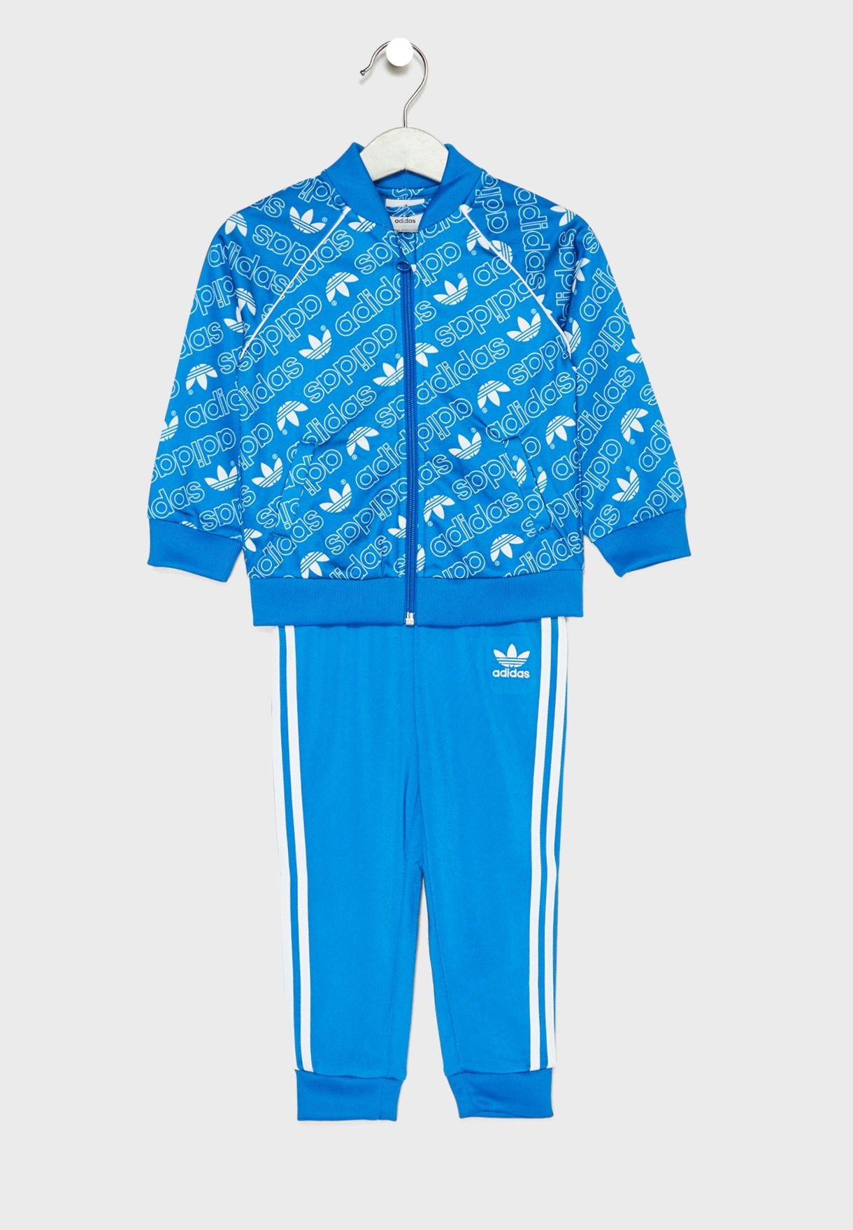 711a4184921 Shop adidas Originals blue Kids Trefoil Superstar Tracksuit D98863 ...
