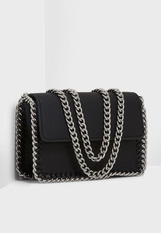 Double Chain Strap Crossbody Bag