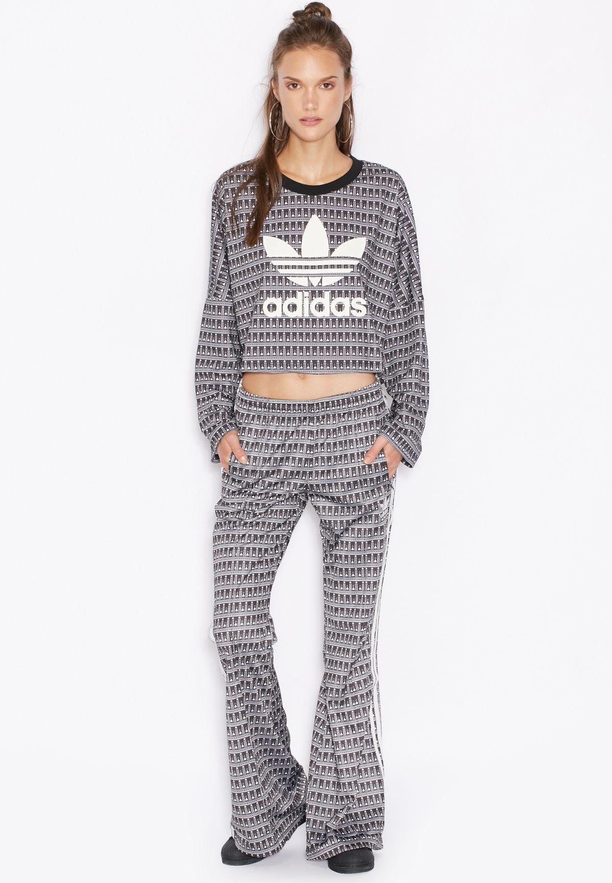 5094f43ef4ed19 Shop adidas Originals grey Pavao Sweatshirt AY6879 for Women in UAE ...