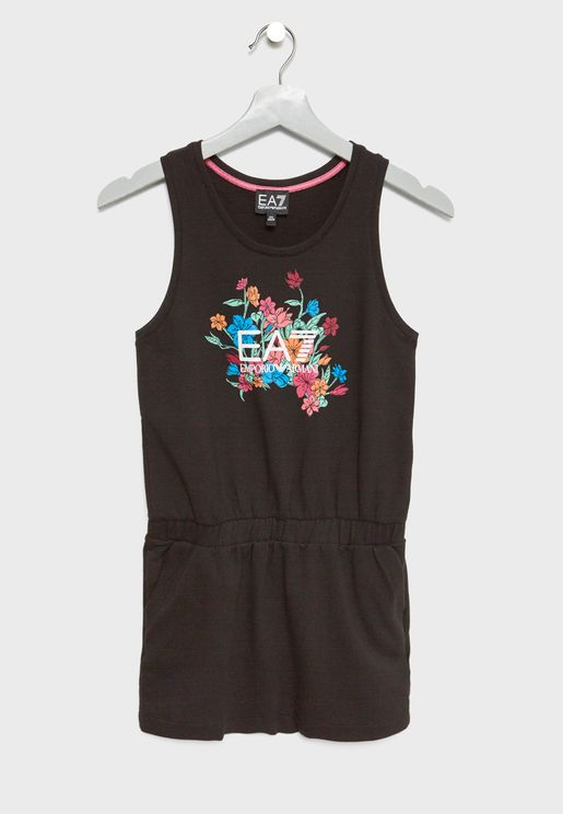 Teen Graphic Logo Dress