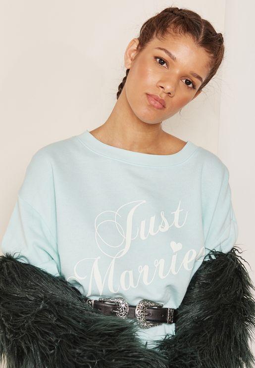Bride Slogan Sweater