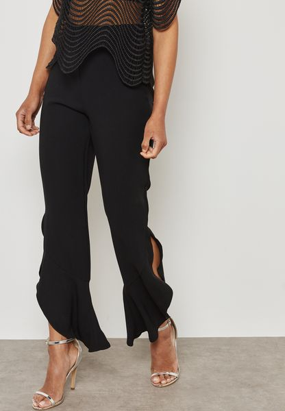Ruffled Detail Pants