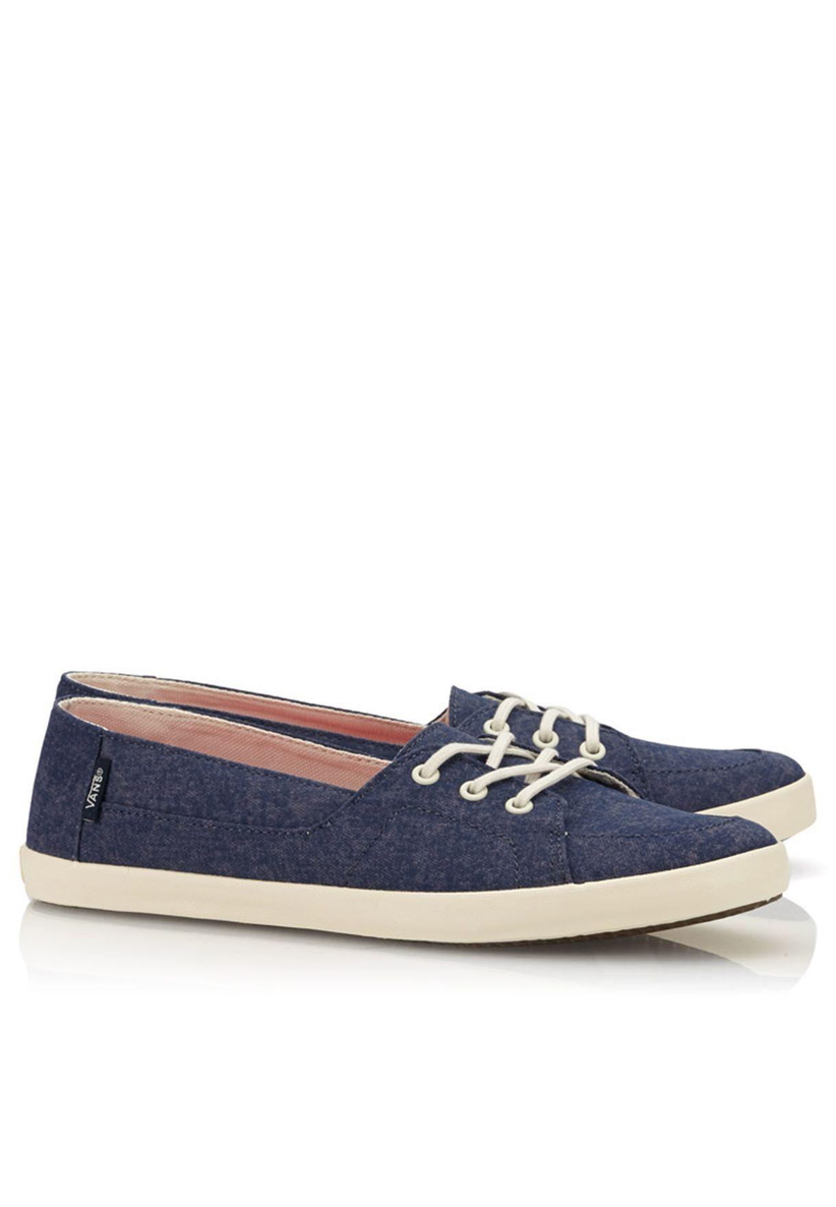 47092a0cf8 Shop Vans blue Palisades Vulc Calypso Sneakers for Women in Qatar -  VA088SH98NLX