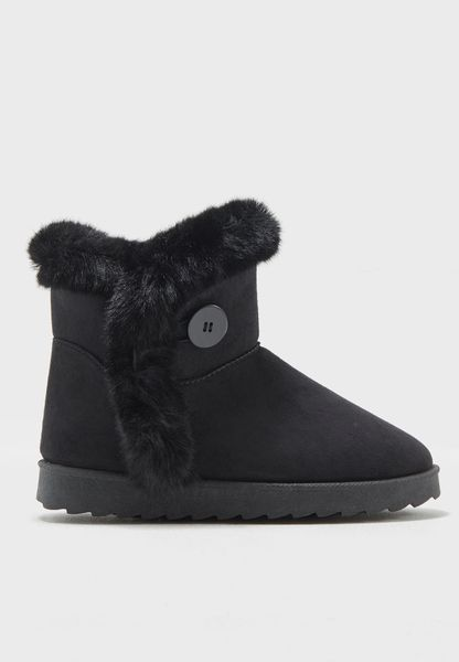 Ankle Boot With Fur