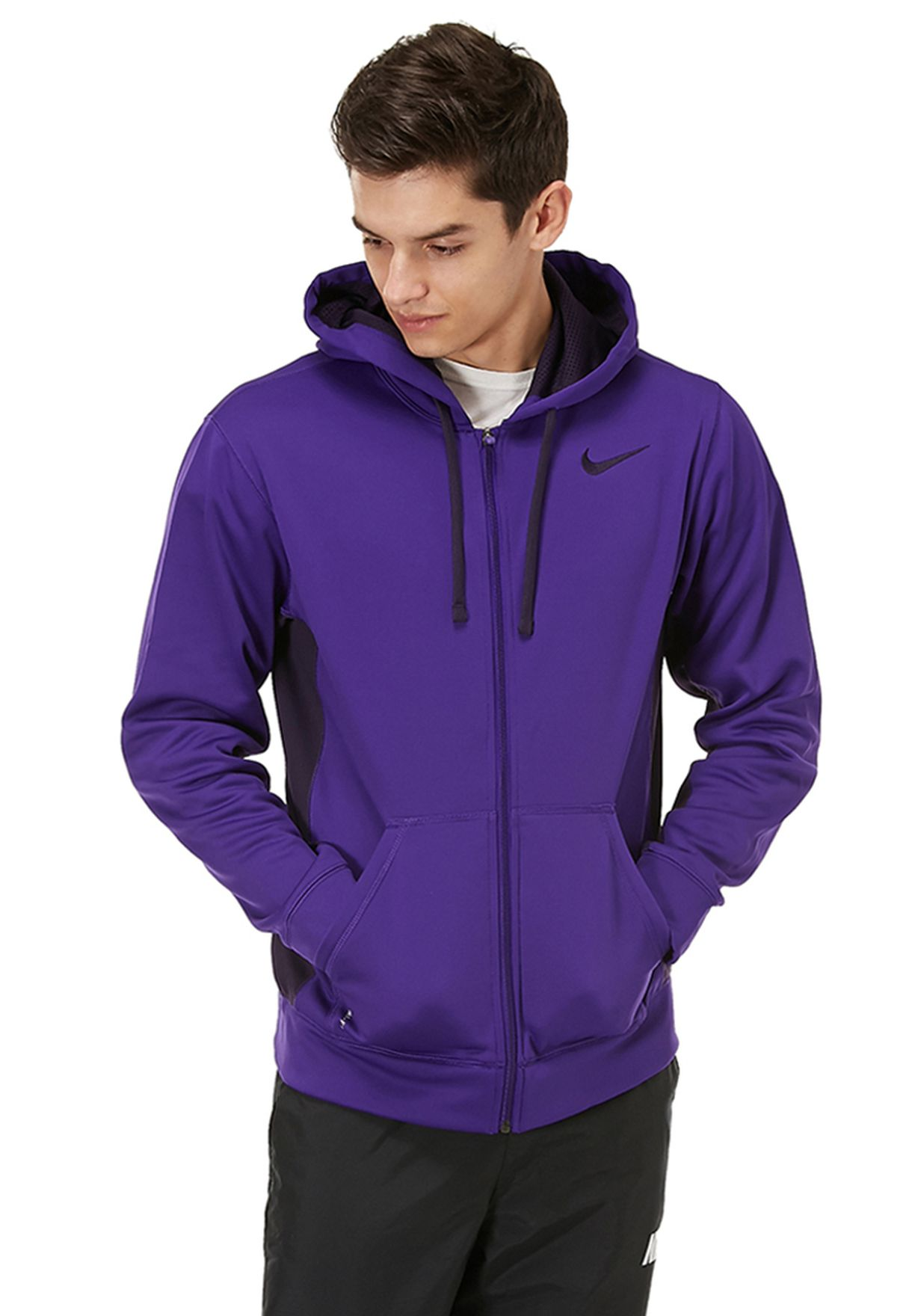 bc669c6a3418 Shop Nike purple Nike KO Full Zip Hoodie 2.0 NKAP465786-531 for Men ...