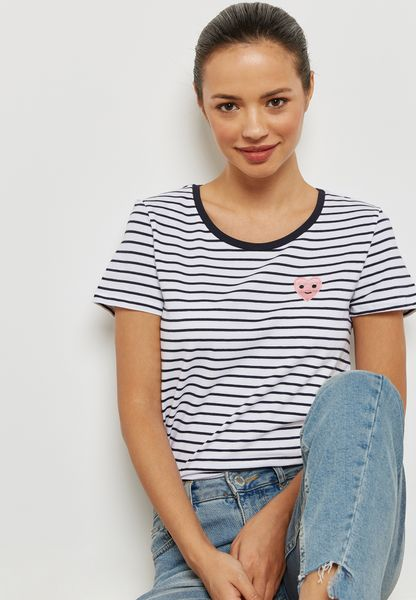 Graphic Striped T-Shirt