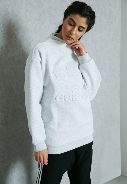 Shop adidas Originals grey Trefoil Sweatshirt BK6004 for Women in Globally  - AD478AT98BQV