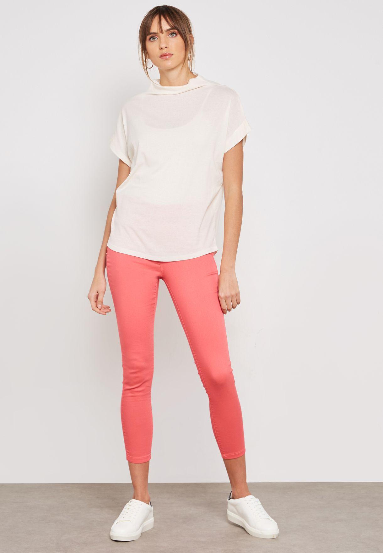 35fe1d490c89e Shop Dorothy Perkins pink Eden Ultra Soft Skinny Jeggings 70529414 ...