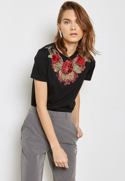 Rose Applique T-Shirt