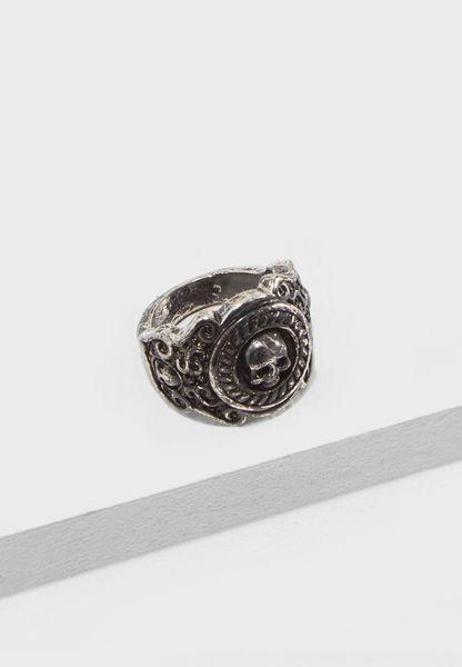 Large Brushed Signet Ring