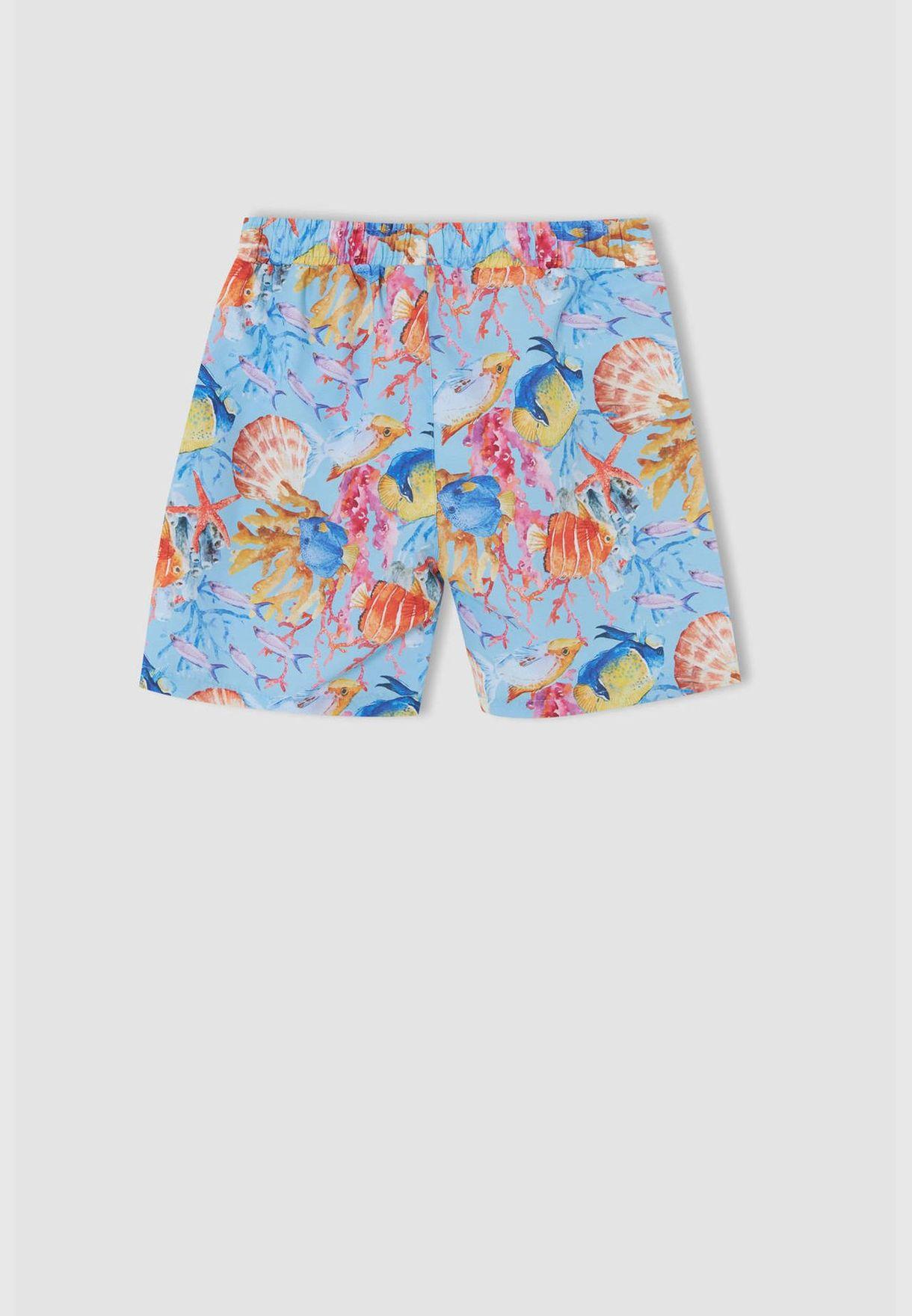 Boy Regular Fit Woven Swimming Short