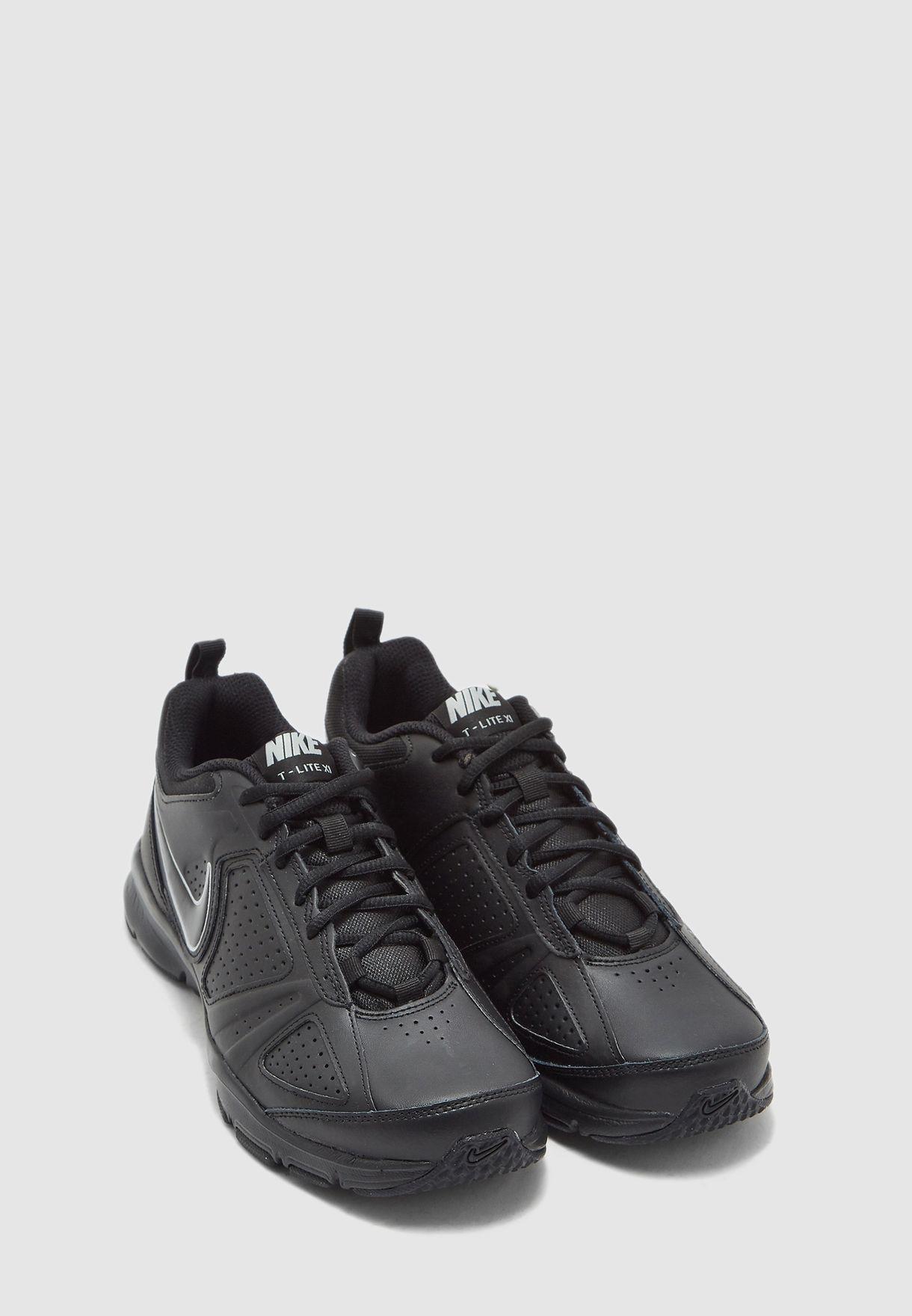 Nike T Lite XI Mens White Lthr Crosstrainer Shoes 616544 100 NWD Size 6 15 M