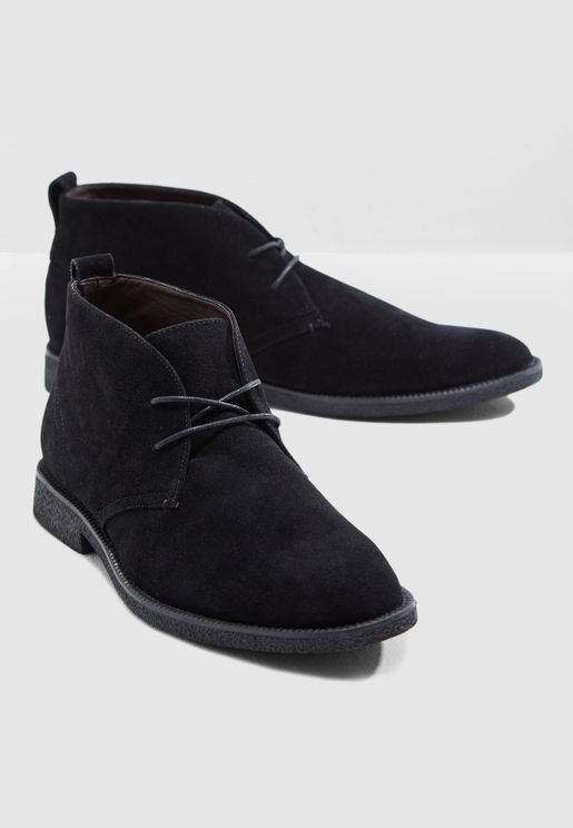 Faux Suede Desert Boots