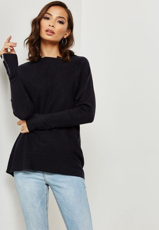 Zip Cuff Sweater