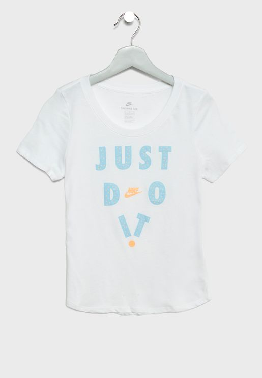 Youth Just Do It Scoop T-Shirt