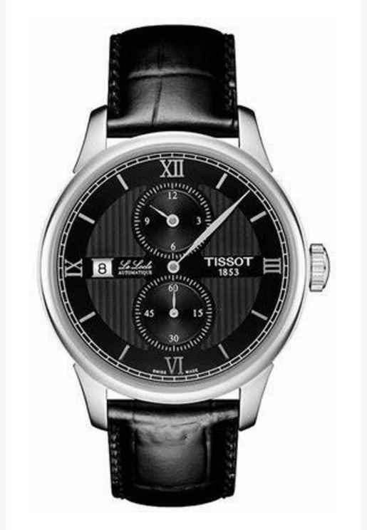 ساعة تيسو لو لوكلي بسوار جلدي - T006.428.16.058.02.00