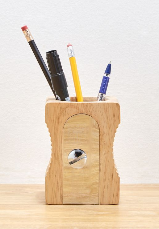 Sharpener Desk Pen/Pencil Holder