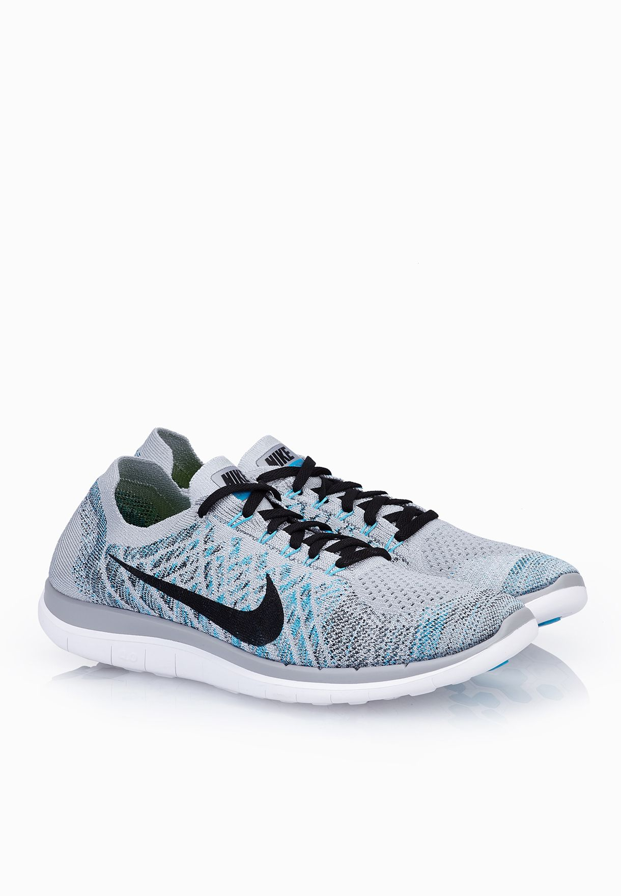 e0b63924837 Shop Nike grey Free 4.0 Flyknit 717075-010 for Men in Bahrain - NI727SH88CBZ
