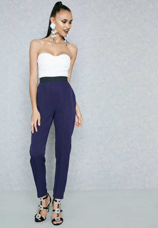 Colourblock Bandeau Jumpsuit