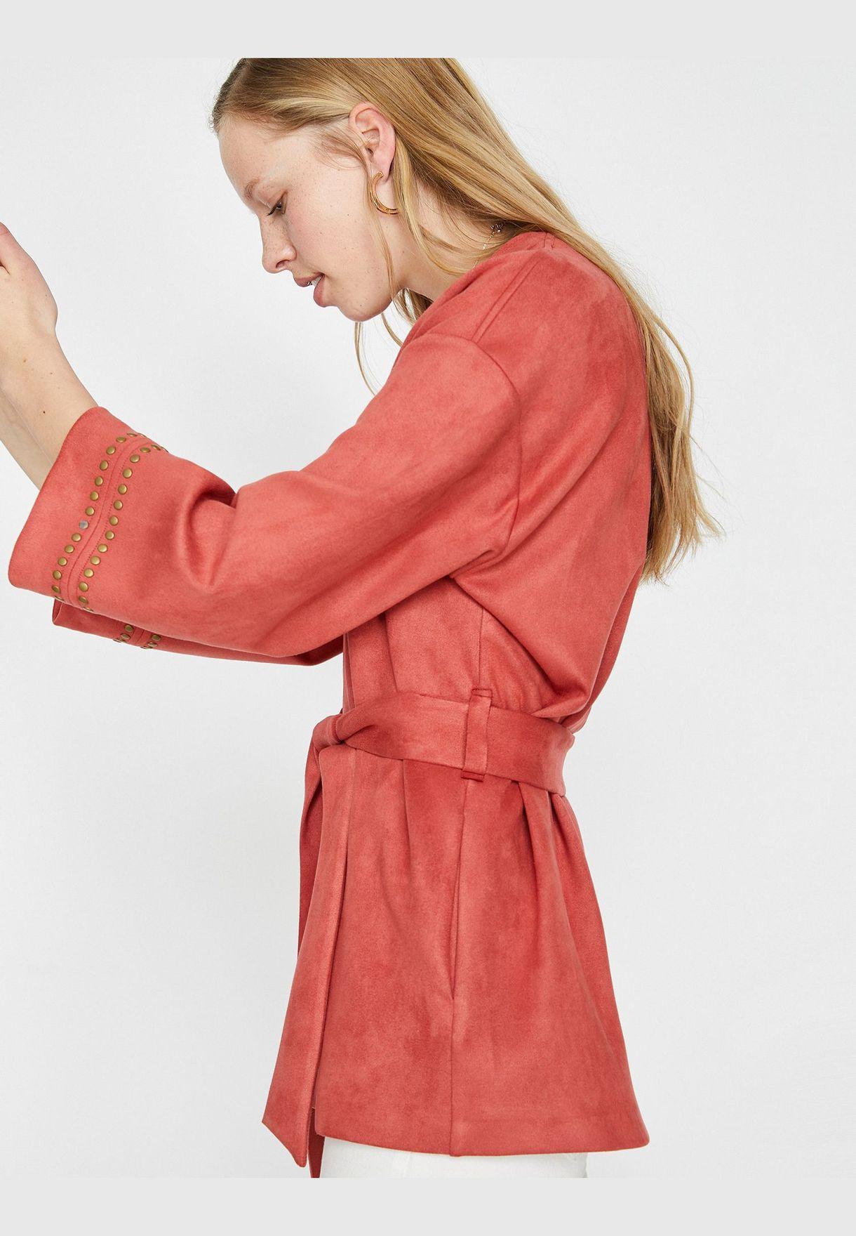 Stud Detailed Kimono