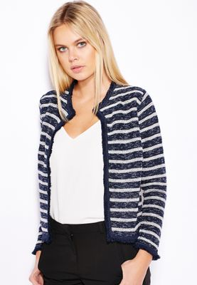 Miss Selfridge Striped Crop Jacket