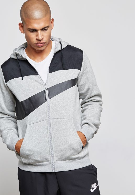 Hybrid Fleece Full Zip Hoodie