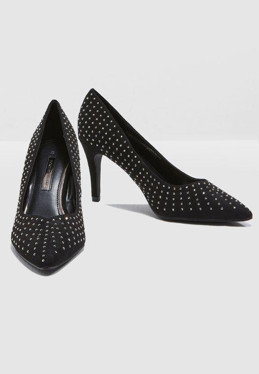 Glare Embellished Court Shoe