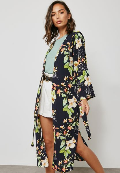 Floral Printed Kimono