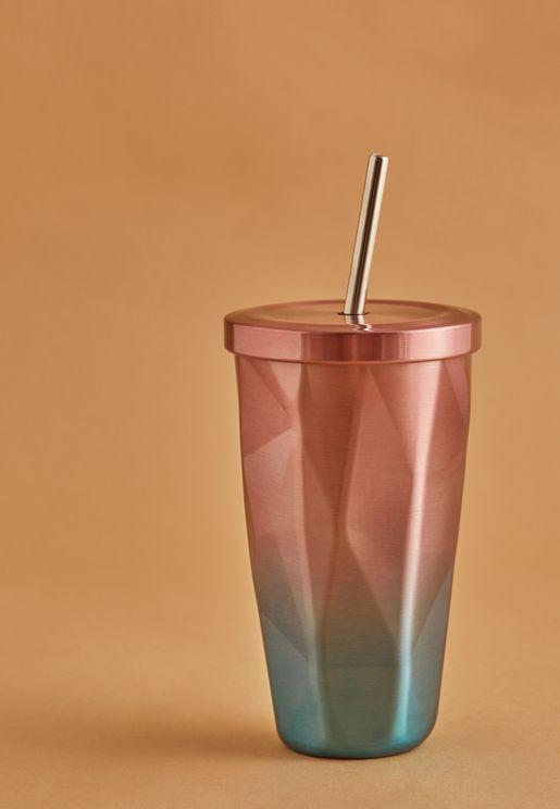 فنجان بشفاط بطبعات هندسية