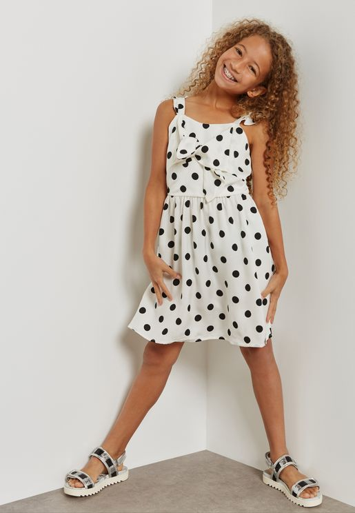Teen Spot Knot Dress
