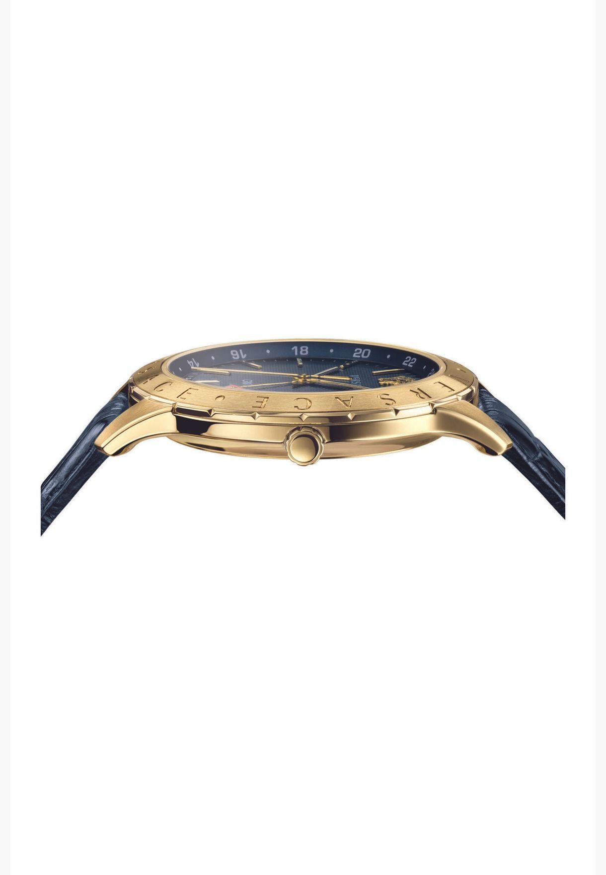 ساعة فيرساتشي يونيفرس للرجال بسوار جلدي - VEBK00318