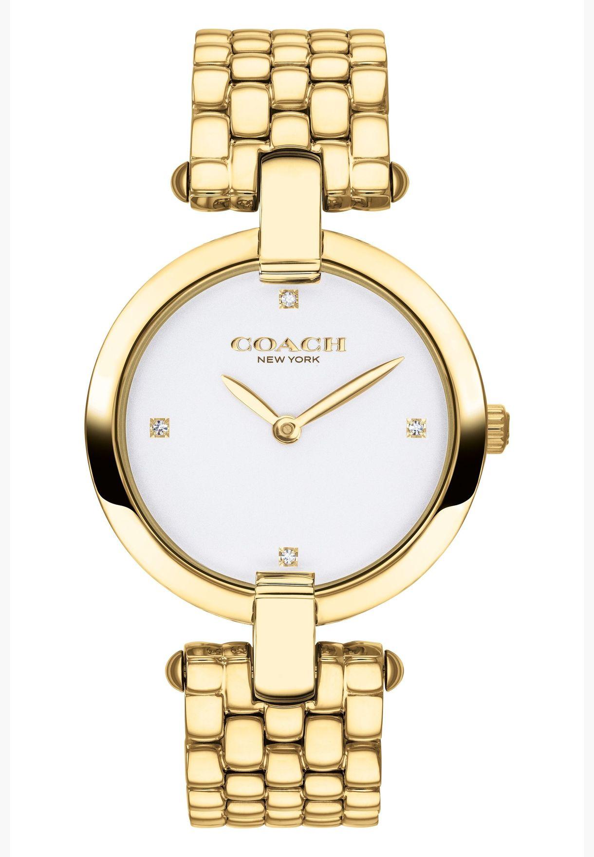 كوتش ساعة كريستي بسوار ستانلس ستيل للنساء - 14503320.5