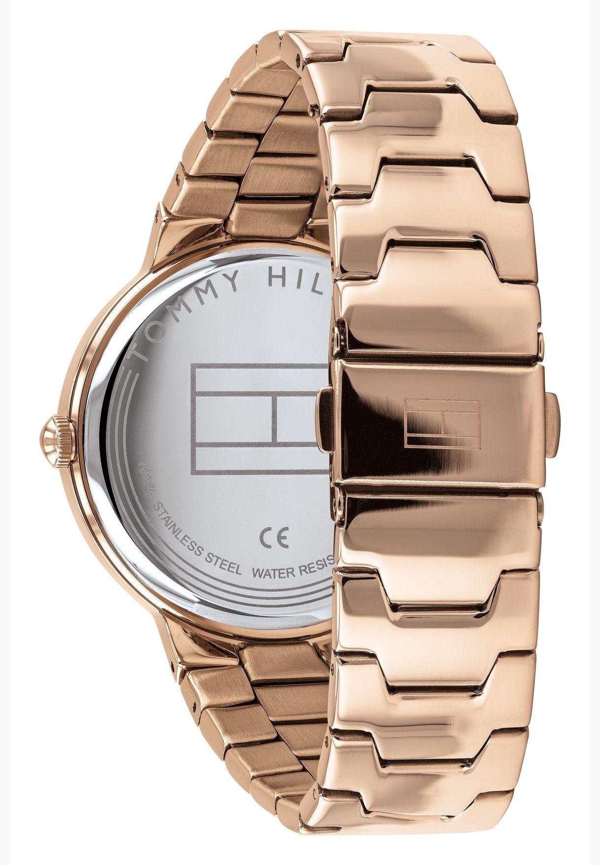 تومي هيلفيغر ساعة أليسا بسوار ستانلس ستيل للنساء - 1782076