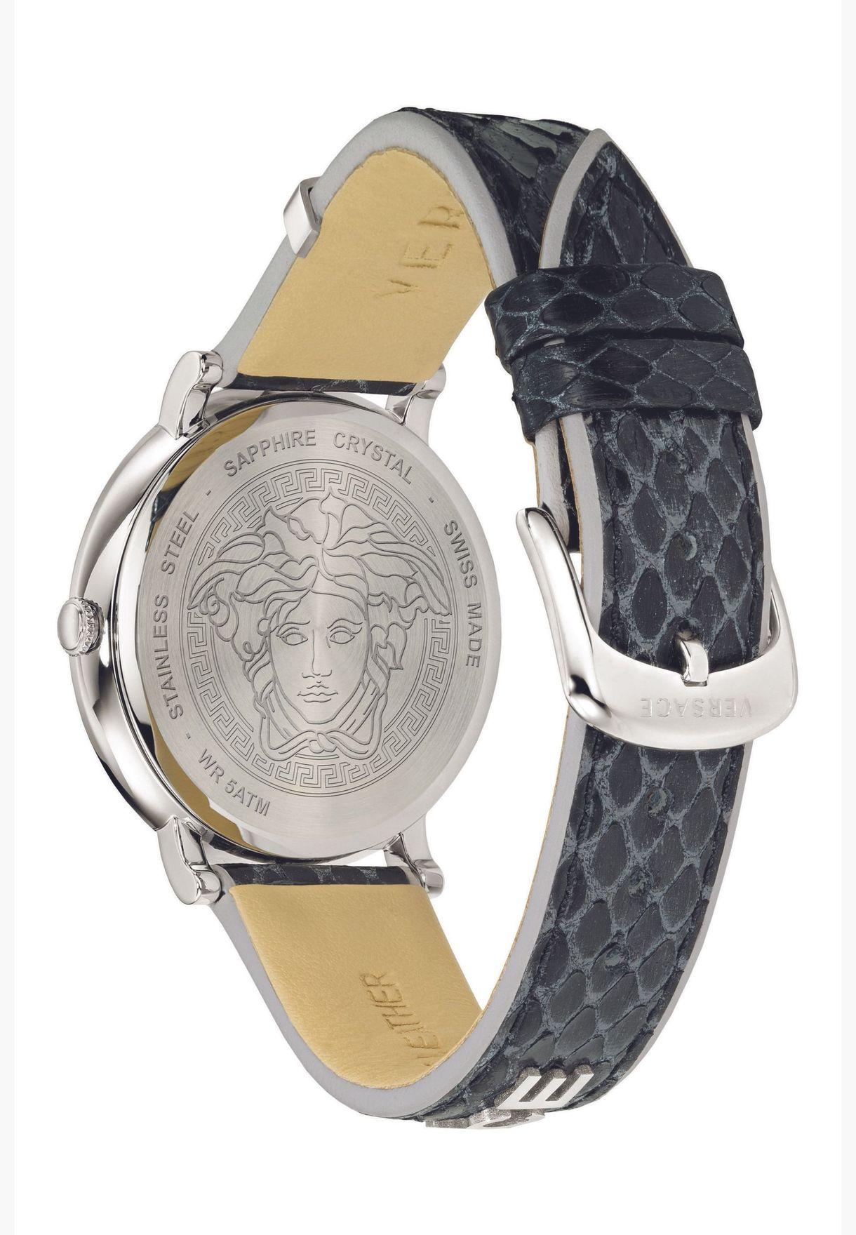 ساعة فيرساتشي سيركل بسوار جلدي للنساء - VE8100919