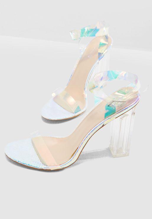 Alia Strappy Perspex Sandal