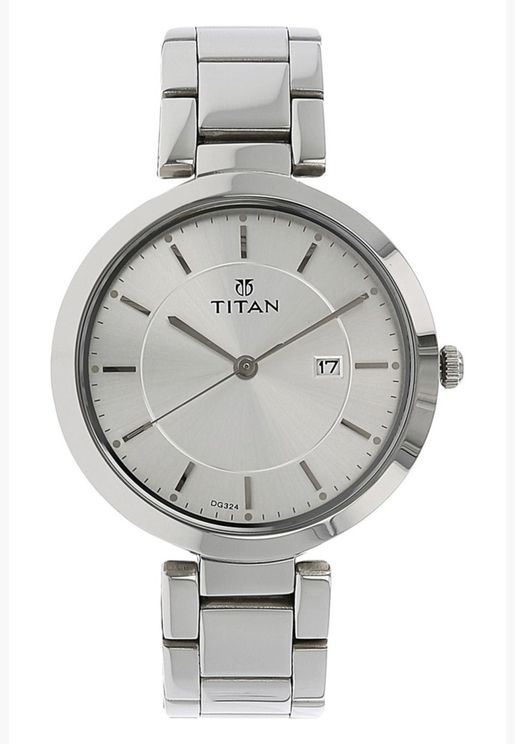 Titan Analog Watch for Women with Day & Date Function - 2480SM07