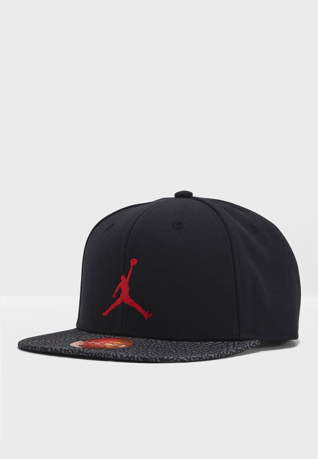 2a07f3e5c8d7e3 Shop Nike black Jordan Cap 9A0076-023 for Kids in UAE - NI727AC88JNR