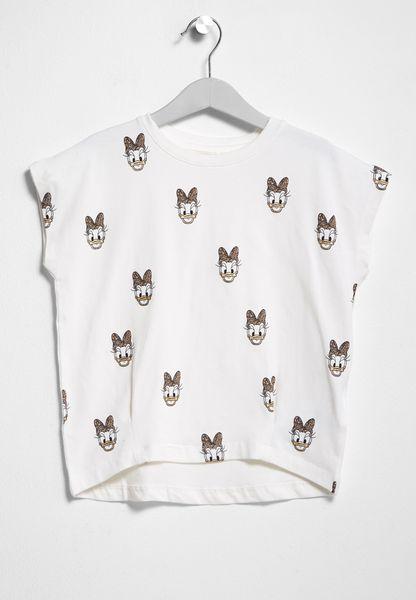 Little Daisy Print T-Shirt