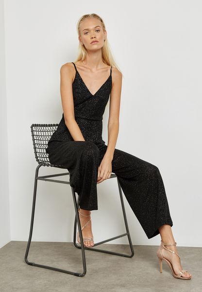 Wide Leg Glitter Jumpsuit