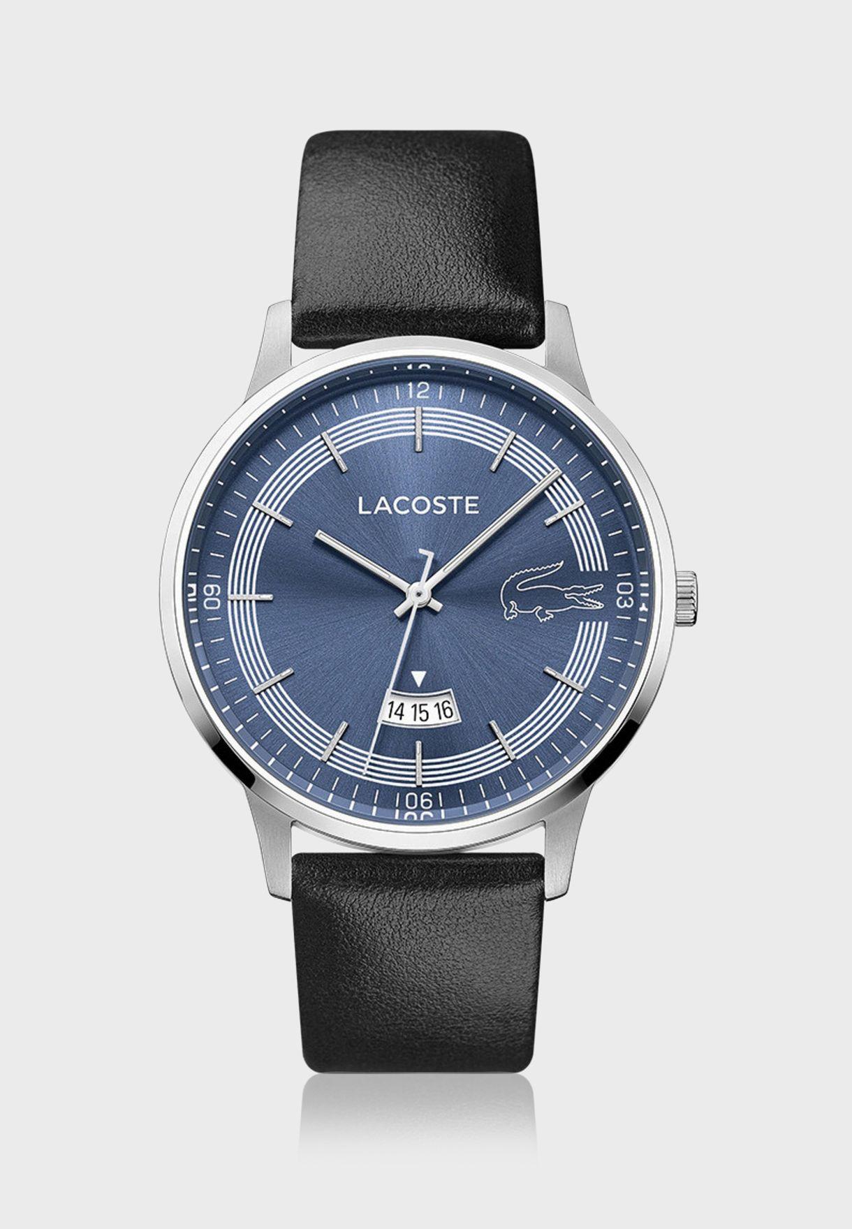 ساعة لاكوست مدريد بسوار جلدي للرجال - 2011034