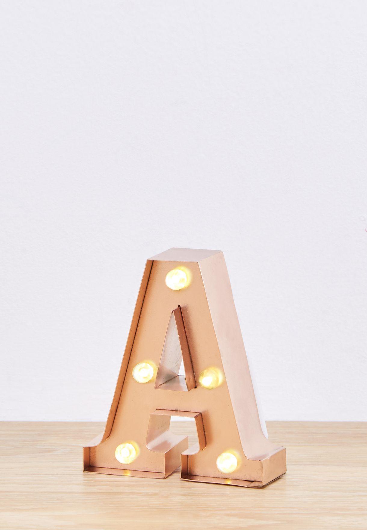 Initial A Rose Gold Mini Light