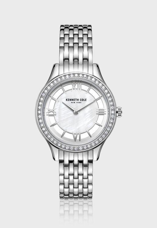 كينيث كول ساعة يد بسوار ستانلس ستيل للنساء - KC50988001