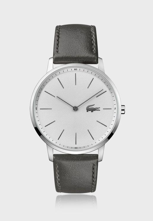 ساعة لاكوست مون بسوار جلدي للرجال - 2011056