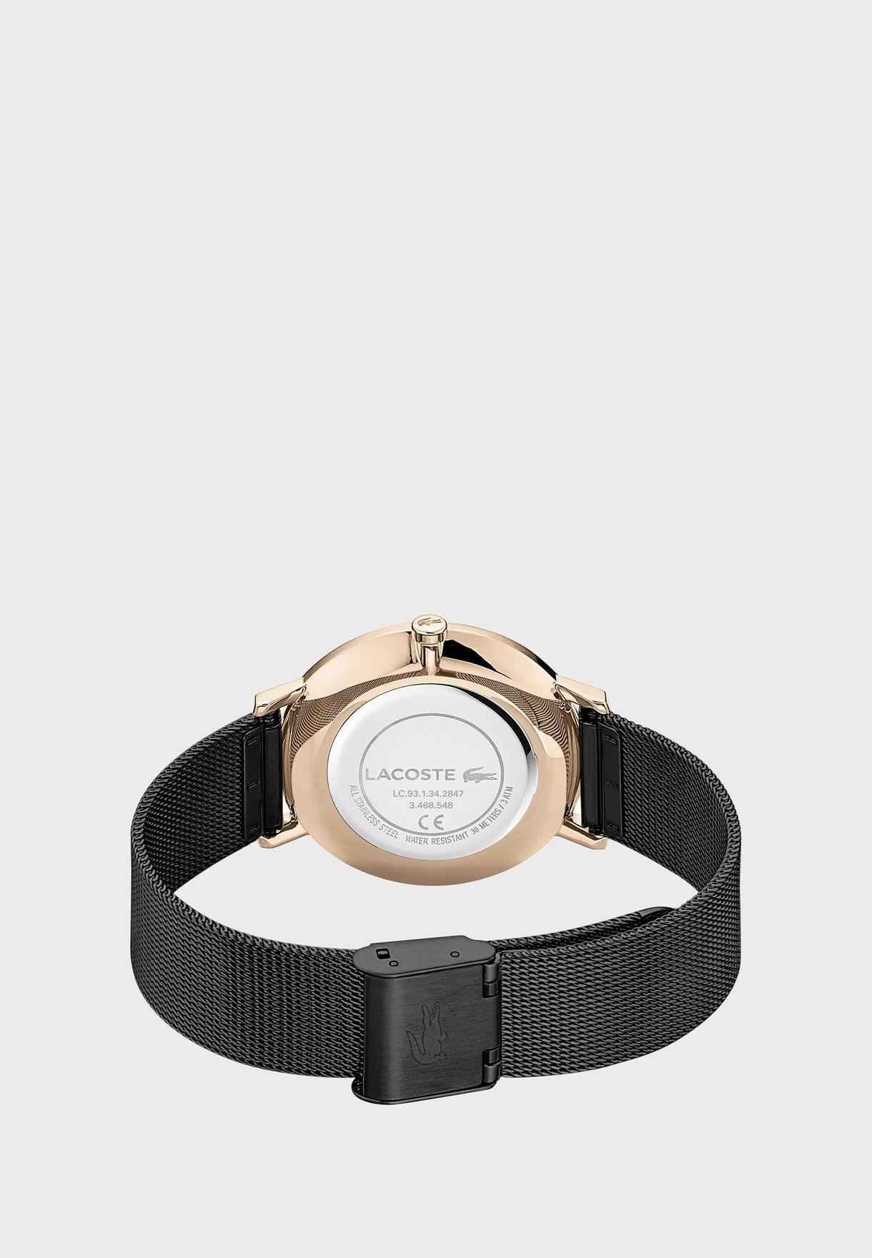 ساعة لاكوست مون بسوار من الستانلس للنساء - 2001115