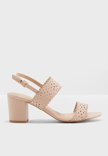 Blush Sugar Lazer Cut Sandals