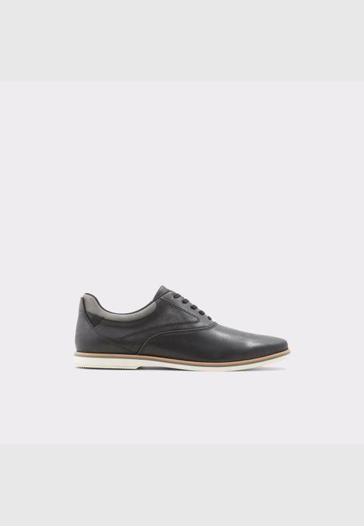 ALDOSTURUS Men Synthetic Leather Shoes Flat Heel Euro 46 Black
